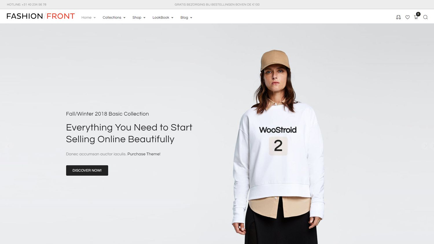 WooCommerce webshop Fashion Front
