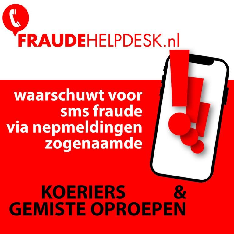Fraudehelpdesk.nl meldt gevaarlijke sms-berichten koeriersdienst